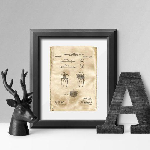 Plakat z koncepcją na kotwę stomatologiczną - patent z 1922r.