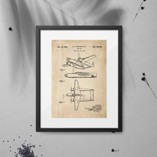 Plakat z konstrukcją samolotu z 1943r.