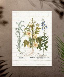 Plakat z kwiatami do dekoracji gabinetu
