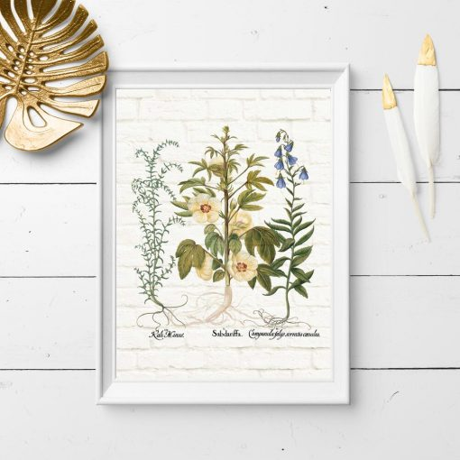 Plakat z kwiatkami do ozdoby sklepu ogrodniczego
