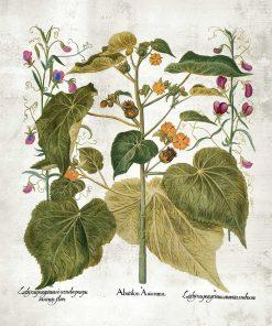 Plakat z motywem zielonych roślin