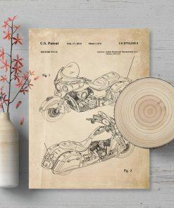 Plakat z patentem na produkcję jednośladu