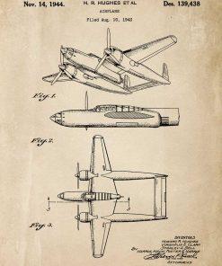 Plakat z patentem na samolot z 1943r.