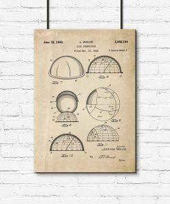 Plakat z patentem na urządzenie do obserwacji gwiazd do przedpokoju