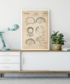 Plakat z patentem na urządzenie do obserwacji gwiazd do salonu