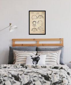 Plakat z patentem na urządzenie do obserwacji gwiazd do sypialni