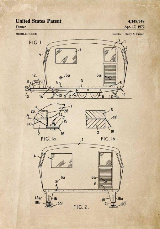 Plakat z patentem - Przyczepa
