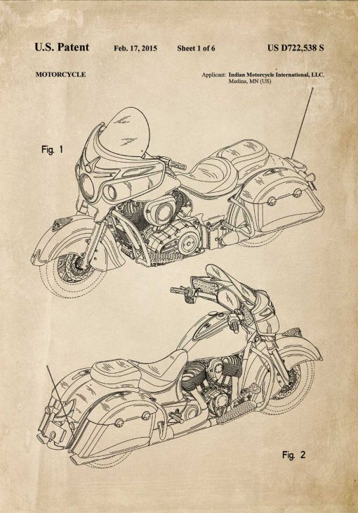 Plakat z projektem motocykla z 2015r.