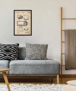 Plakat z rysunkiem opisowym syreny alarmowej do salonu