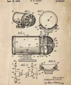 Plakat z rysunkiem opisowym syreny alarmowej