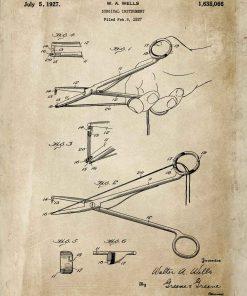 Plakat z rysunkiem patentowym - Imadełko chirurgiczne dla studenta