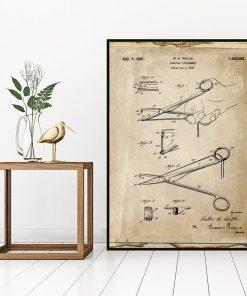 Plakat z rysunkiem patentowym - Imadełko chirurgiczne do biura