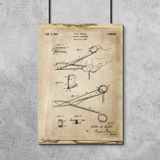 Plakat z rysunkiem patentowym - Imadełko chirurgiczne do gabinetu lekarskiego
