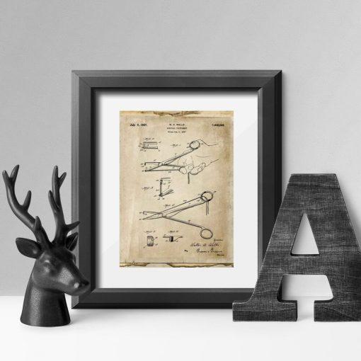 Plakat z rysunkiem patentowym - Imadełko chirurgiczne do salonu