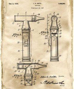 Plakat z rysunkiem patentowym otoskopu laryngologicznego do sypialni