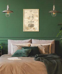 Plakat z rysunkiem patentowym - Szczotka do włosów do sypialni