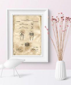 Plakat z wynalazkiem z 1922r. - patent