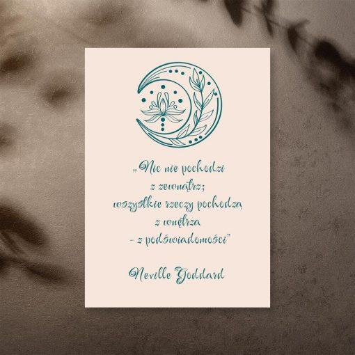 Plakat ze słowami Neville Goddard o podświadomości