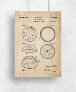 Plakaty z atestem na budowę urządzenia astronomicznego