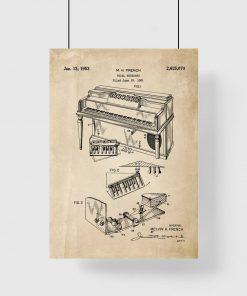 Poster z rysunkiem patentowym - Pianino dla muzyka