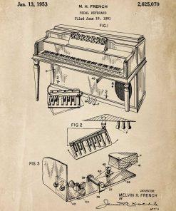 Poster z rysunkiem patentowym - Pianino