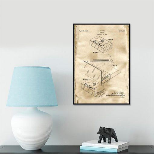 Pudełko na mydło - Plakat z patentem do gabinetu