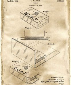 Pudełko na mydło - Plakat z patentem do szkoły