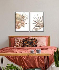 Dwa plakaty z motywem roślinnym