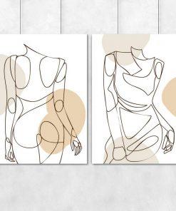Dyptyk minimalistyczny z kobietą