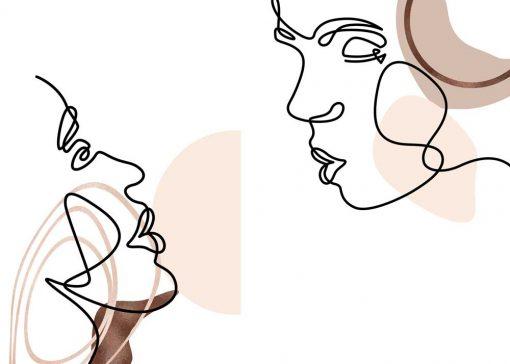 Dyptyk plakatowy kobieta i mężczyzna