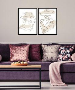 Kobieta w kapeluszu na plakatach