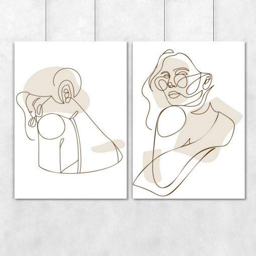 Komplet 2-częściowy z kobietą w okularach
