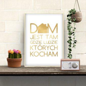 Plakat metaliczny dom