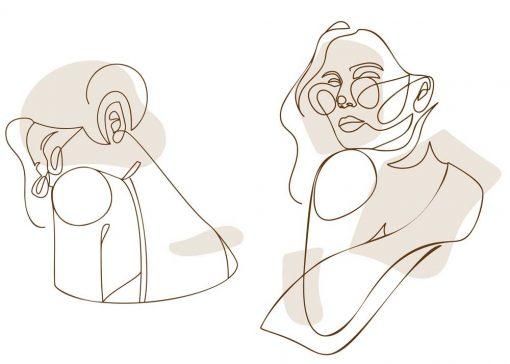 Plakat 2-częściowy z okularniczką