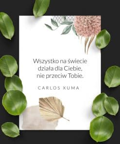 Plakat C. Xuma - cytat