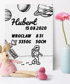 Plakat imienny z metryczką dziecka