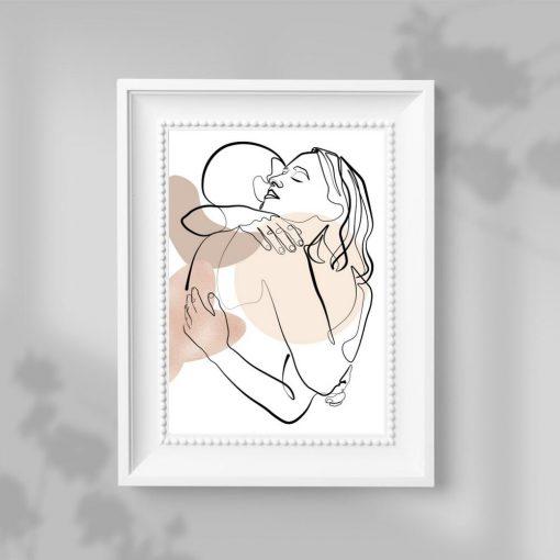 Plakat kobieta i mężczyzna