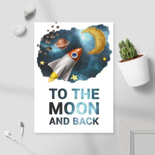 Plakat kosmiczny dla dziecka bez ramy