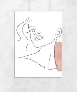 Plakat minimalistyczny one color z kobietą
