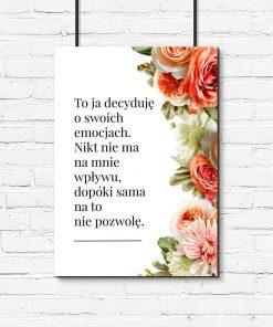 Plakat o emocjach kobiety