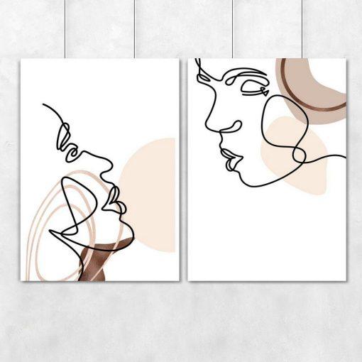 Plakat one color do dekoracji salonu