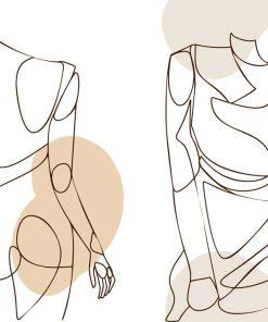 Plakat podwójny z kobiecą postacią do ramy