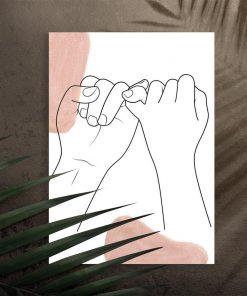 Plakat ręce one color