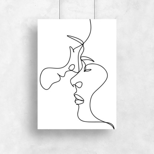 Plakat w stylu minimalistycznym z ludźmi