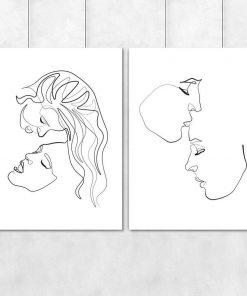 Plakat z buziami kobiet - szkic