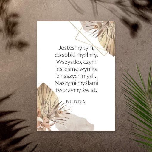 Plakat z dewizą Buddy