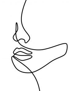 Plakat z kobiecą fizjonomią