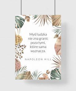 Plakat z maksymą o mocy ludzkiej myśli - N. Hill