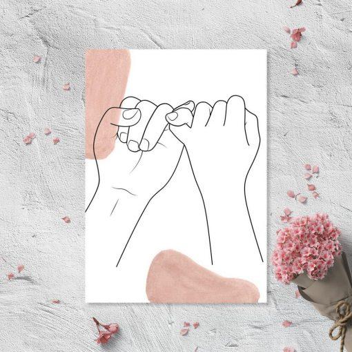 Plakat z rękoma