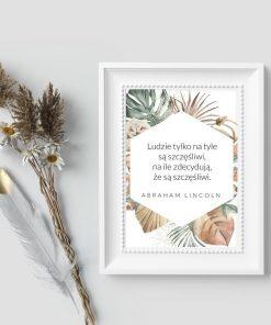 Plakat z sentencją - Abraham Lincoln